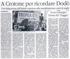 A Crotone per ricordare Dodò
